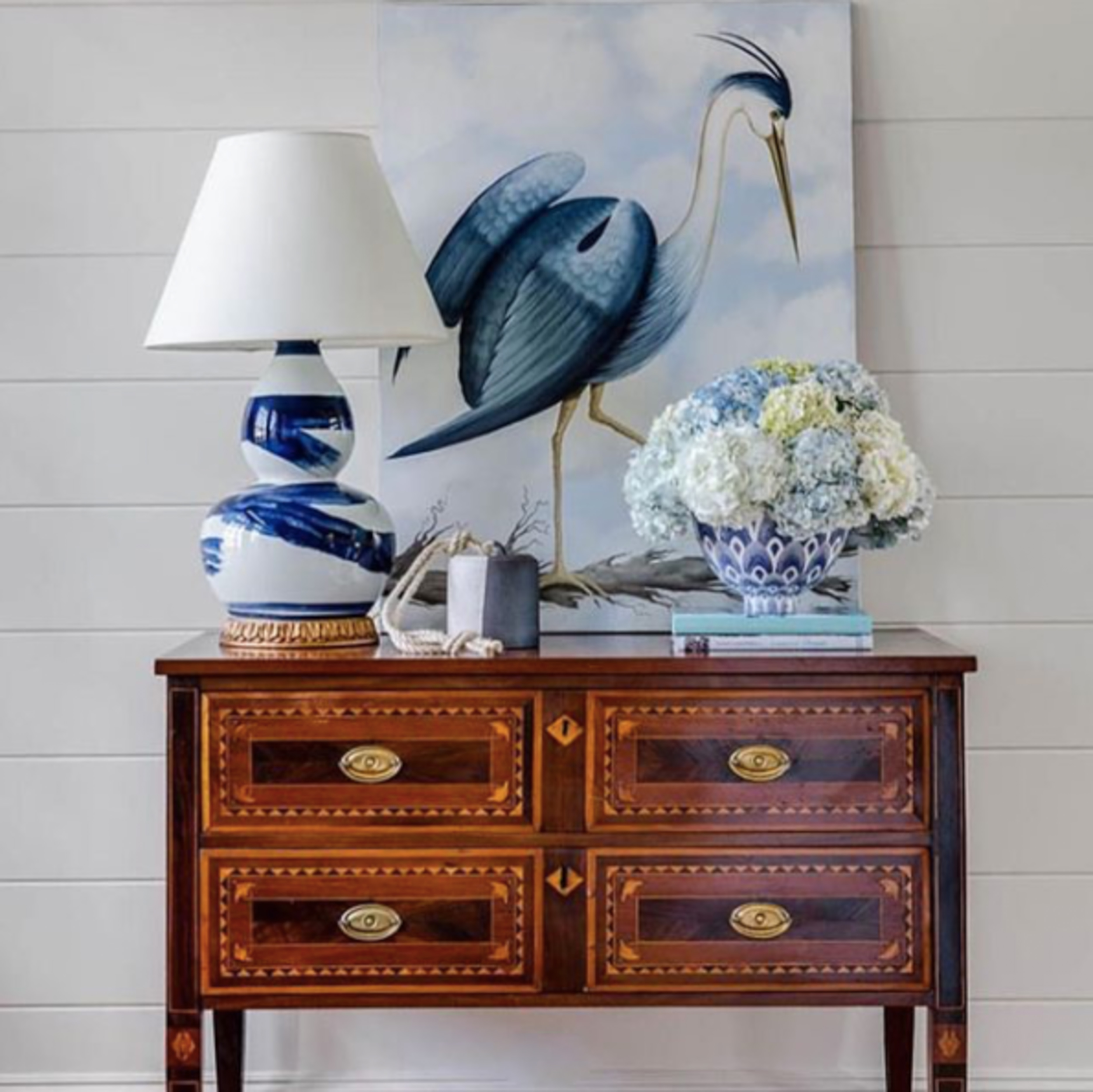 Bunny Williams Brushstroke Lamp (Blue)